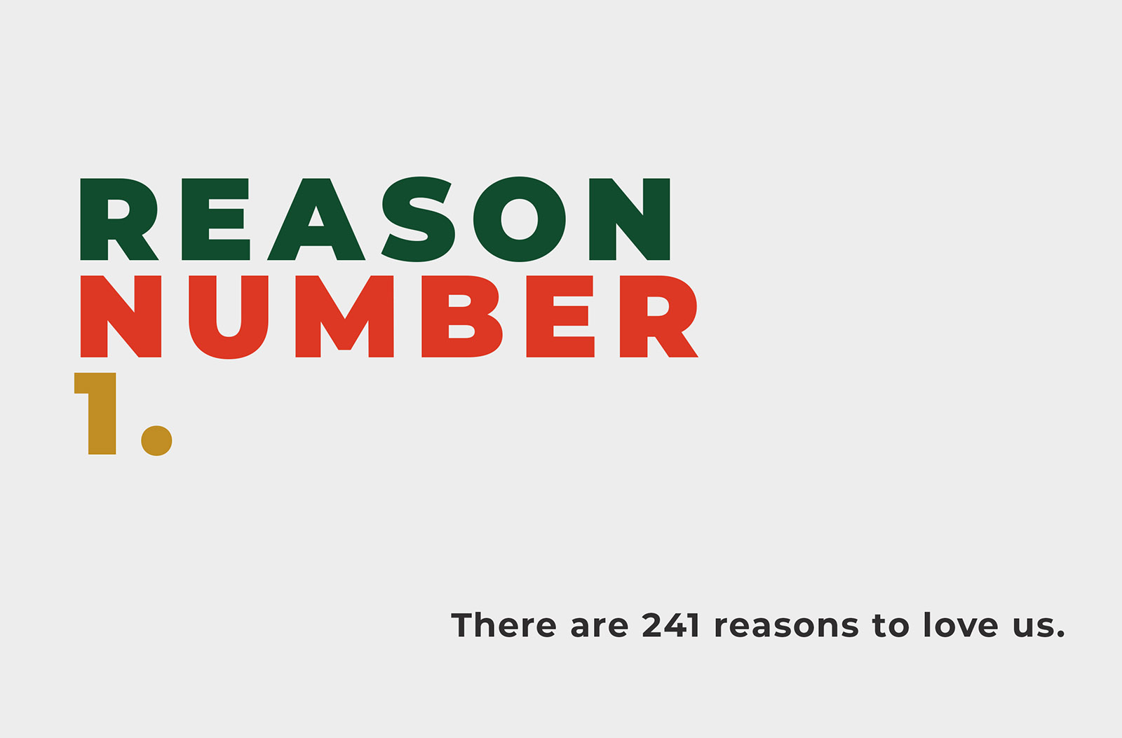 241 Pizza reasons